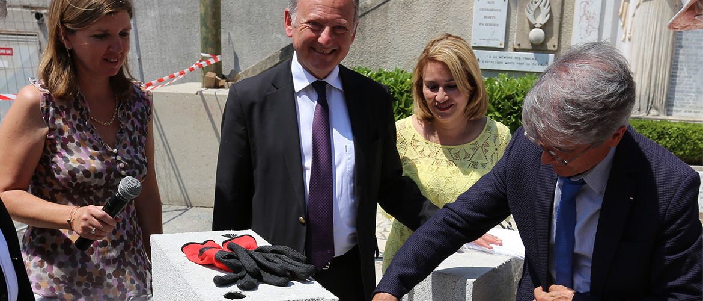 Pose de la première pierre inaugurant le chantier de la Résidence Stella Rocca