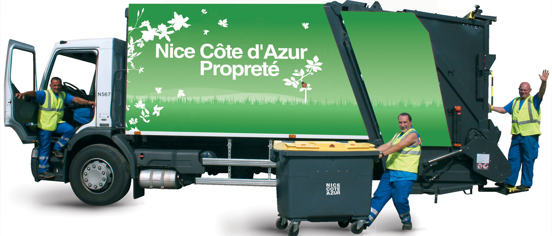 Collecte des déchets par la Métropole Nice Côte d'Azur