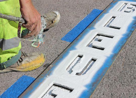 Zone bleue : marquage au sol