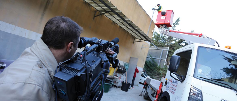 """Agenda 21 : tournage de la vidéo pour """"la Gestion centralisée de l'arrosage automatique"""""""