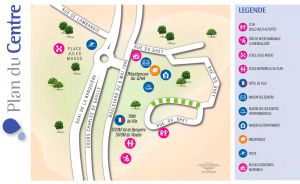 Plan du centre de Saint-André de la Roche