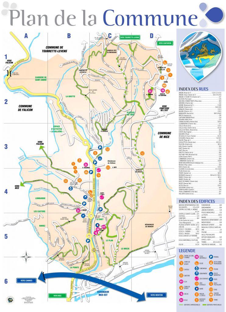 Plan de la commune de Saint-André de la Roche