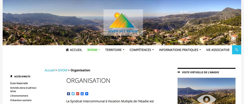 SIVOM de l'Abadie : site web