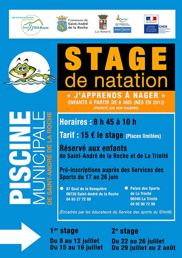Inscriptions Stage de Natation