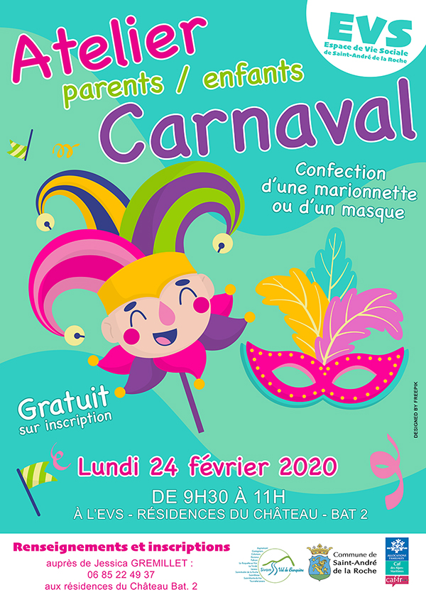 Inscriptions : Atelier Parents Enfants Carnaval