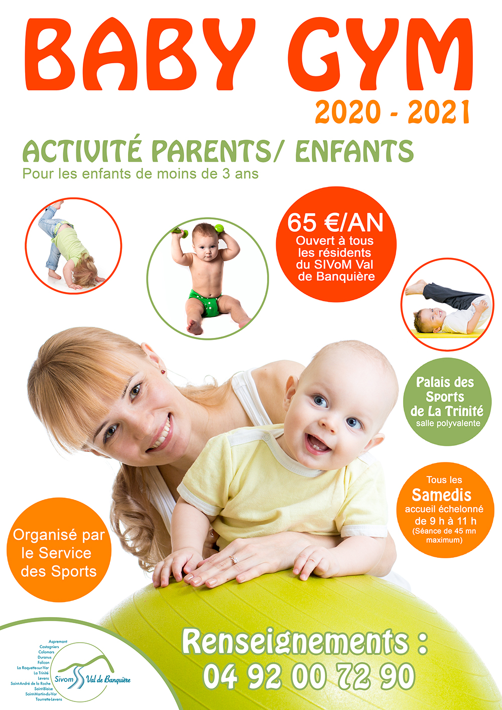Baby Gym - Inscriptions